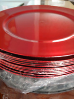 11 red charger plates