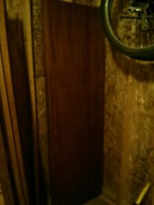 Vintage sliding closet door set