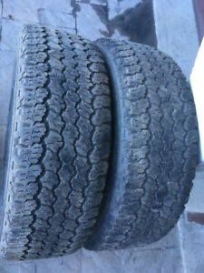 2 PNEUS / 2 ALL SEASON TIRES LT 265/70/17 GOODYEAR WRANGER