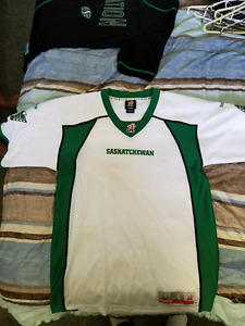 Saskatchewan roughrider jersey and baseball tee