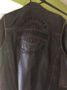 harley davidson leather jacket mens/womens