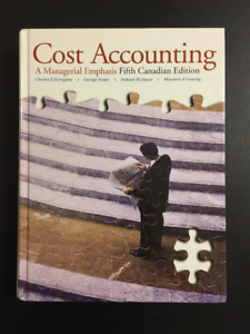 Cost Accounting A Managerial Emphasis 5th Edition