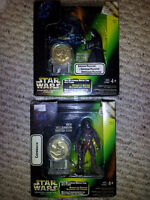 Star Wars New Millennium Minted Coin with Figures!! 2 Available!