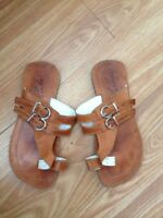 Size 6 leather sandals from Cuba