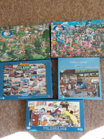 Puzzles 1000 and 500 piece