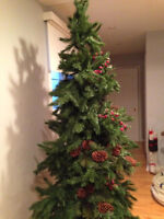 """Xmas Tree 7'5"""" with wood trunk"""