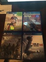 PS4 GAMES FOR SALE PERFECT CONDITION