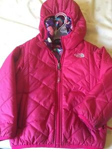 Girl's 4T Fall jacket - The North Face.- wear both sides