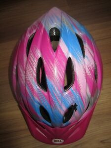 "GIRLS ""BELL"" REX CHILD BICYCLE HELMET - 52-56 cm - AGE 5+"
