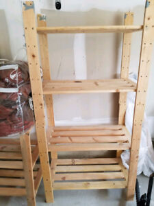 4 shelves wooden organizer - 3 units available