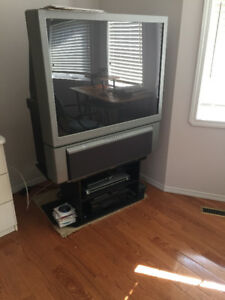 44-46 inch TV with TV stand for $50