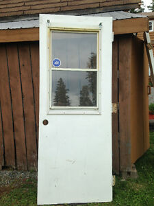 "Used 32"" Steel Door with Sliding Window"