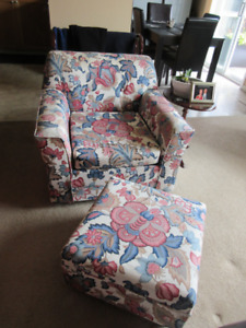 Love Seat and Armchair with Ottoman