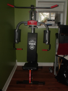 YORK- Home gym equipment.
