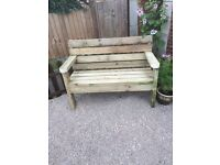 Raclaimed timber bench