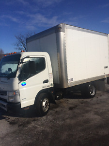 2012 Mitsubishi FE160 Fuso Truck with 12ft cube box