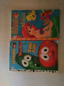 2 Coloring & Activity books with stickers