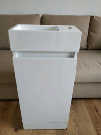 Cloakroom cabinet and basin sink