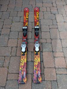 Battons et ski alpin junior