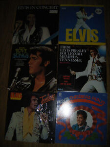 6 Collectible Elvis records for sale..