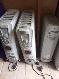 Dragon/ Delonghi portable heaters X3