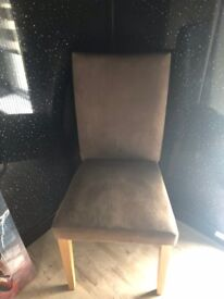 2 suede chairs free