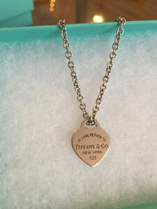 Return to Tiffany & co. Heart pendant necklace