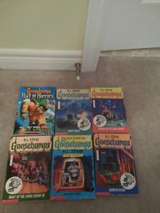 Goosebumps books $2.50 each or 6 for $12.00