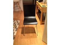 Black dining chairs 4 off £10.00