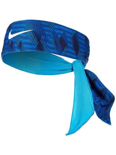 Nike Head Tie REVERSIBLE Swoosh DRI-Fit 3.0 Tennis Running Headband BLUE NWT