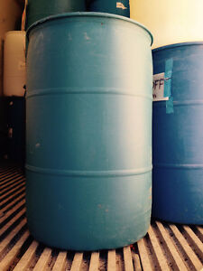 45 Gallon Plastic Drums for sale.