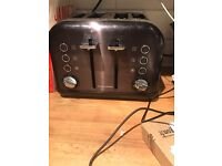 Morphy Richards toaster kettle with storage jars