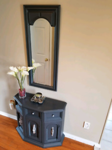 Refinished cabinet and mirror
