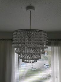 Ceiling pendant light.