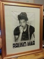 Framed Bruno Mars Portrait