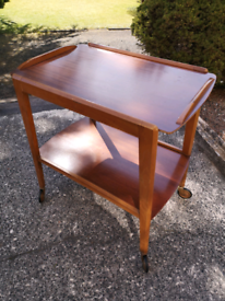 Vintage 1960's Remploy Wooden Bar/Serving Trolley