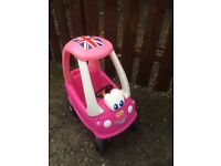 Little tikes pink cosy coupe car