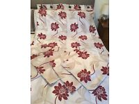 Eyelet Curtains with matching Cushion Covers