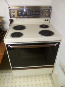 Mint condition Moffat Electric Range and Broan Range Hood