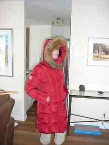 Manteau d'hiver avec fourrure de renard (porté 1 mois)