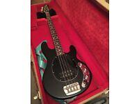 Music man SUB 4 string bass guitar includes thomann flight case and new gig bag