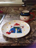 Plate and mug set for Santa!