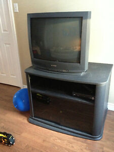 REDUCED - large tv stand for game consoles