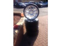 """Genuine 19"""" BMW 3 Series MV4 M Sport E90 E91 E92 Staggered Alloy Wheels and tyres"""