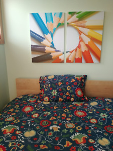 IKEA Malm Full/Double Bed Set - With Mattress and More!