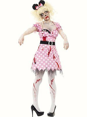 Zombie Rodent Rat Minnie mouse Fairy tale fancy dress costume Womans Halloween  - Minnie Mouse Zombie Costume