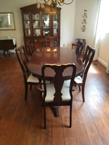 Selling dining chairs, table, and cabinet