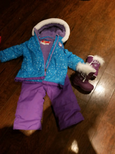 24 month snow suit and size 5 boots