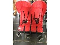 Kiddicare double buggy with extras