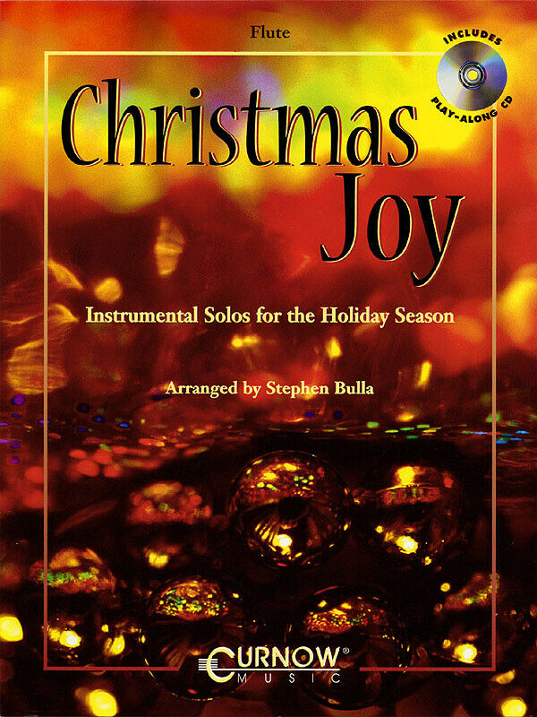 Christmas Joy for Flute Solo Sheet Music 12 Songs Play-Along Book CD Pack